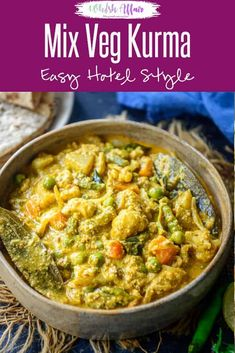 Make this Hotel Style Mix Veg Kurma at the comfort of your home using my simple recipe. It has beautiful flavours from coconut, poppy seeds and other spices. Here is how to make Veg Kurma Recipe. Vegetarian Recipes Dinner, Vegan Recipes, Weeknight Recipes, Vegan Food, Food Food, Dinner Recipes, Tempeh, Tofu, Veg Kurma Recipe