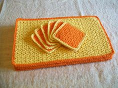 Crochet Placemat Patterns | SunRise Crochet Placemat and Coaster Set