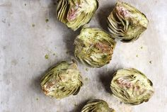 Yum - artichokes http://withfoodandlove.com/small-plates-vegetables/broiled-artichokes-with-roasted-garlic-aioli-vegan/