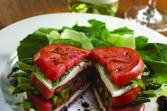 Different salad idea!  What beautiful tomatoes!