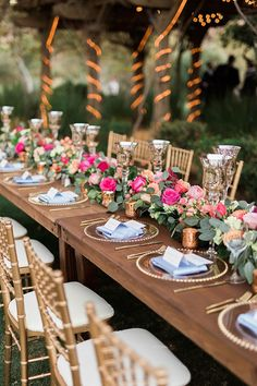 Brett Hickman Photographers | Coordination: Engaged Events | Location: Arroyo Trabuco Golf Club | Floral Design: Flower Allie | Linens: Luxe Linen | Rentals: Classic Party Rentals | Lighting: De-Lighted | Invitations & Wedding Day Stationery: Sugar Press Design Studio via CeremonyMagazine.com