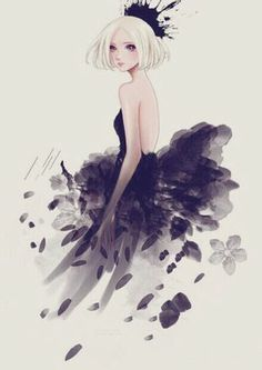 Reminds of princess tutu<---same. like it could be rue and mythos daughter.