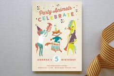 Festive Animals Children's Birthday Party Invitati... | Minted