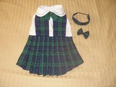 Dog dress  My Little SCHOOL GIRL  RED plaid  by DianaDesignsNY, $20.00  I LOVE, LOVE, LOVE this School Girl Outfit!!