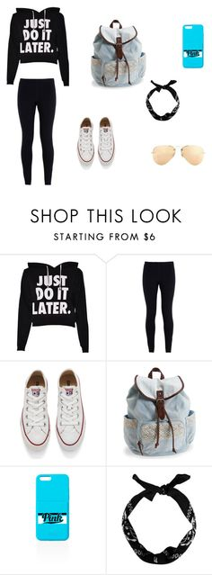 """Any Day Outfit"" by jazmine-1222 ❤ liked on Polyvore featuring NIKE, Converse, Aéropostale, Ray-Ban, women's clothing, women, female, woman, misses and juniors"
