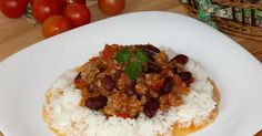 Chili con carne Meat Recipes, Cooking Recipes, English Food, English Recipes, 30 Minute Meals, Bon Appetit, Chile, Grains, Chili Con Carne