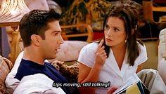No interrupting Monica