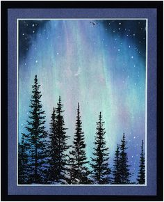 Streaks - northern lights - distressing/watercolouring