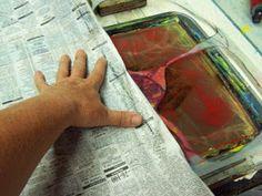 Linda Germain | What is a Newsprint Pick up in Gelatin Printing?