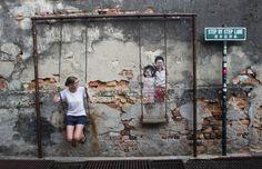 Street Art in Penang – ein Rundgang zu den schönsten Motiven Georgetowns (mit Karte)
