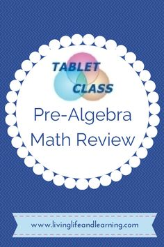 TabletClass Pre-Algebra Math Review