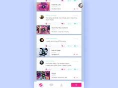 music sharing app-transition from list view to detailed page by JIE LIU