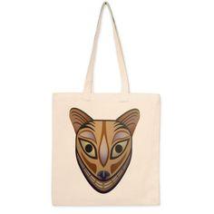 Bolso de lona Mascara etnica felina