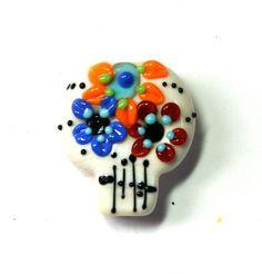 Bella Bead Jewelry Lampwork Glass Sugar Skull by bellabeadjewelry