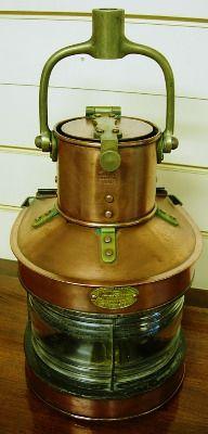 Nautical Vintage Brass Lamp Lantern Ankerlicht Dhr Den