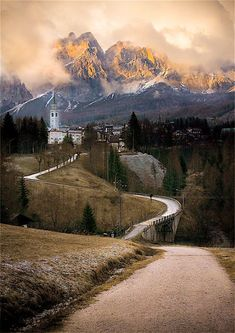 On the way to Dolomites, Italy.