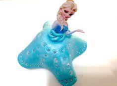 Maçã Decoradas - Elsa Frozen