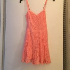 Hollister lace romper Lace romper with a sweet heart neckline. Only worn twice! Hollister Dresses Mini