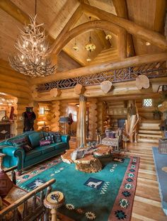 Ideas for log cabin furniture - how to choose the right pieces? - Ideas for log cabin furniture – how to choose the right pieces? Log Cabin Living, Log Cabin Homes, Log Cabins, Rustic Cabins, Barn Homes, Log Cabin Furniture, Western Furniture, Log Home Interiors, Log Home Decorating