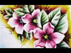 Como Pintar Orquídeas no Tecido. - YouTube