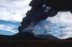 volcano at dusk