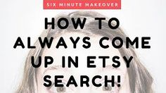 This video will show you how to DOMINATE your specific niche on Etsy...and how you can ALWAYS come up in search for certain things you sell! I'm gonna give you a tour through a niche Etsy shop, and show you how she can blow up her traffic just by doing 5 minutes of digging on Etsy search. Quick research   Your shop = more sales.
