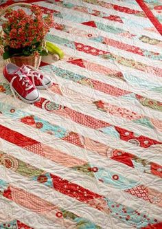 PDF QUILT PATTERN.... Quick and Easy...one Jelly Roll ... Between ... : jelly roll strip quilt pattern - Adamdwight.com
