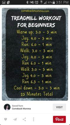 Treadmill for beginners