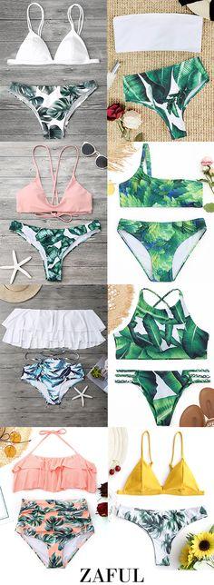 Leaf Print Bikinis,Bestsellers of Spring#bikinis