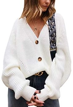 Angashion Women's V Neck Button Down Long Sleeve Cable Knit Cardigan Sweaters Outerwear Tops [ Material ]: Acrylic. This cardigan sweater is 100% brand new and high quality! [ Style ]: Casual, Loose, Open Front, Button Down, Cable Knitted, Solid Color, Long Sleeves, V Neck. This oversized sweater cardigan can be both casial or formal. [Occasion]: Spring, Fall, Winter, Party, Date, Club, Daily Wearing, Work, At Home. This button down sweater is suitable for all seasons and many occasions. [Packag Sweater And Shorts, Cardigan Sweaters For Women, Sweater Coats, Cardigans For Women, Long Sleeve Sweater, Fall Sweaters For Women, Women's Cardigans, Cardigan En Maille, Cable Knit Cardigan