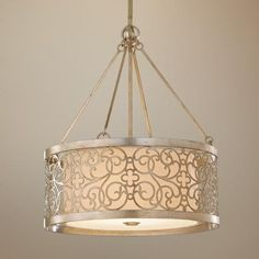 """Murray Feiss Arabesque 23"""" Wide Pendant Chandelier -- I painted the entire collection in dark oil rubbed bronze and they are amazing in my new master bathroom!!! This one hangs over my tub :)"""