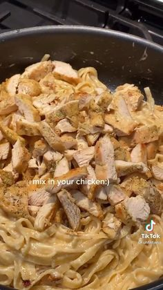 This will be a nice departure from my usual tomatoe based pasta. Creamy Chicken Pasta, Chicken Tortilla Soup, Shrimp Pasta, Chicken Tenderloin Recipes, Chicken And Dumplings, Cooking Videos, Healthy Chicken Recipes, Food Inspiration, Meat