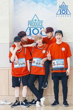 Everyone looks so cool then there is the cute and happy, Puppy Daniel Jinyoung, Kang Daniel Produce 101, Daniel K, Produce 101 Season 2, Kim Jaehwan, Ha Sungwoon, Kpop, K Idols, My Boys