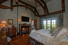 Master Suite with truss ceiling