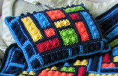 Crochet Mandala Pattern, Afghan Crochet Patterns, Knitting Patterns, Crochet Squares, Crochet Afghans, Crochet Blankets, Crochet Granny, Granny Squares, Baby Blankets