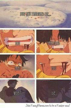 Promesse entre Luffy et Ace..c'est tellement triste de voir une fin comme ça..