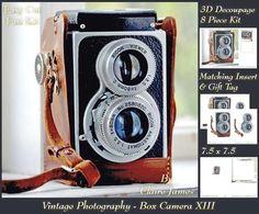 Photography Vintage Camera 13 Insert Tag on Craftsuprint - Add To Basket!