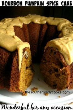 This Bourbon Pumpkin Spice cake is a great recipe. This cake with all the spices, bourbon and nuts will be a favorite to serve to family and friends. Mini Cakes, Cupcake Cakes, Bundt Cakes, Cupcakes, Frosting Recipes, Dessert Recipes, Pastry Recipes, Pudding Recipes, Cupcake Recipes