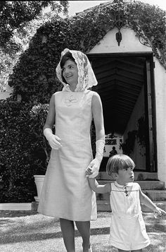 John F Kennedy Jr Holds His Mother S Hand U First Lady Jacqueline