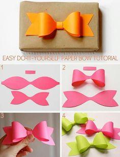 diy paper bow diy crafts craft ideas diy ideas diy crafts crafty easy diy easy craft diy bow craft bow by mavrica Easy Diy Crafts, Cute Crafts, Crafts To Do, Diy Paper, Paper Crafting, Paper Bows, Paper Art, Paper Gifts, Papier Diy