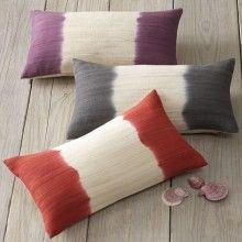 dip dyed pillows
