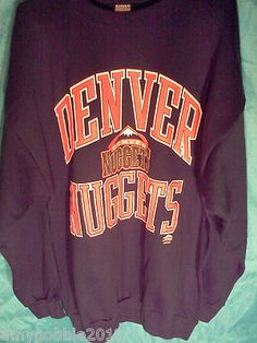 90's Logo 7 Denver Nuggets Sweater.Mens XXL.Free Priority Shipping.