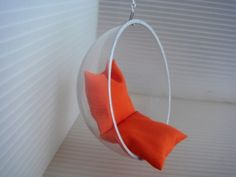 Hanging Hemisphere Chair.....I need to learn how to make this!
