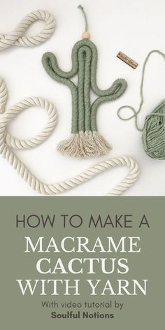 In the mood to get creative with #Macrame? How about making a super cute Macrame Cactus to hang on your wall? Soulful Notions will show you exactly how to make one yourself with another great… More Macrame Design, Macrame Art, Macrame Projects, How To Macrame, Art Projects, Hemp Bracelet Tutorial, Macrame Tutorial, Cactus Keychain, Diy Keychain