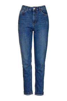 MOTO Dark Blue Mom Jeans - Topshop
