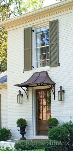 Copper Awning Over Front Door Awnings For Wood 25