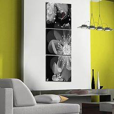 Horloge murale scénique moderne dans la toile 3pcs k0067 – USD $ 69.99