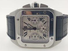 CARTIER SANTOS 100 XL Chronograph Stainless Steel W20090X8