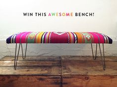 oh what I would give to have this beautiful bench. I think I will put it in my art studio or my vintage trailer.