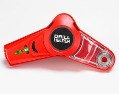 Drill Helper £17 All in one laser level, drill guide and dust catcher. Max. drilling capacity 10mm, with pressure release button. Contains horizontal and vertical laser level, laser level guide, drill guide and transparent dust collection container. Attaches to most surfaces.